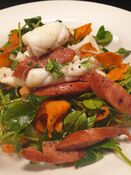 Squid Chorizo Salad | Magdala Motor Lodge Lakeside Restaurant | Stawell, Grampians Region